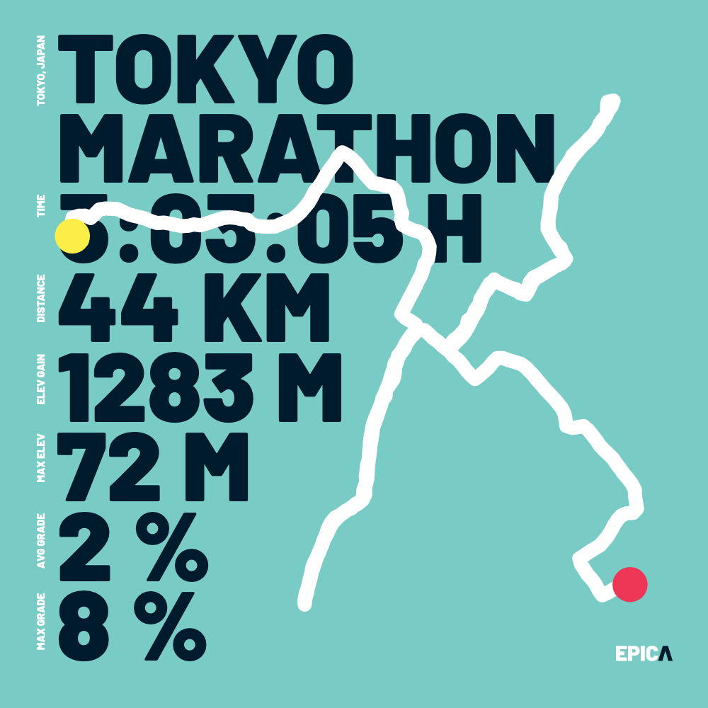 Lower resolution, download version. This typography based visualization makes sure that the pure facts of your effort stick out.